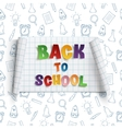 Back to school curved paper banner vector image