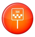 Sign taxi icon flat style vector image