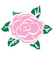 pink rose for valentines day vector image