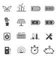 Renewable energy and ecology icon set vector image