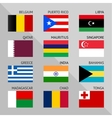 Flags of world flat Set number 02 vector image