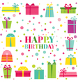 Happy Birthday and Party Invitation Card vector image