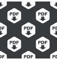 Black hexagon PDF download pattern vector image