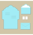 envelope templates on grey background vector image
