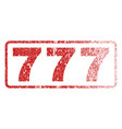 777 rubber stamp vector image