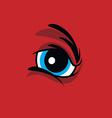 angry monster eye vector image