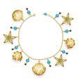 Bracelet with Seashells vector image