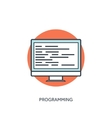 Coding and programming icon with lined computer vector image
