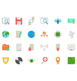 IT technology icons set vector image