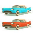 Retro cars vector image