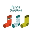 socks happy merry christmas card vector image