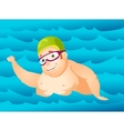 Cheerful Chubby Man vector image vector image