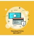 Shield credit card and banknote Transaction vector image