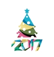 Happy New Year and Chrismas holiday greeting card vector image vector image
