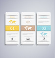 abstract paper infographic vector image vector image