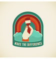 make the difference vector image vector image