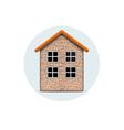 Brick house vector image vector image