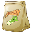 A pack of vegetable seeds vector image