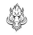 Head of a fierce wild boar vector image vector image