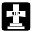 Grave symbol button vector image