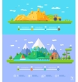 ecology infographic elements flat design vector image