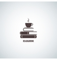 coffee and books design background vector image