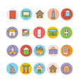 Architecture and Buildings Icons 3 vector image