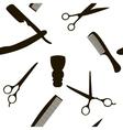 Barber Shop or Hairdresser background seamless vector image