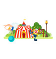 circus located in park main entrance to room vector image