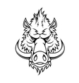 Head of a fierce wild boar vector image