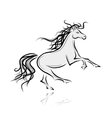Horse sketch for your design Symbol of 2014 year vector image