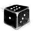 Lucky dice cartoon icon vector image