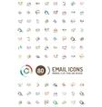 Mega set of email logos vector image
