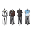 Various garments of male vector image
