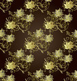 Brown vintage floral seamless pattern vector image