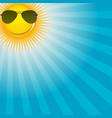 Happy Sun background vector image vector image