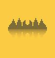 Square sound waveform music wave logo for sound vector image