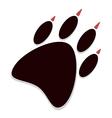 brown paw print vector image