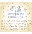 Newborn Icon set vector image