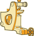 tattoo machine vector image vector image