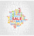 Abstraction sale vector image vector image