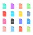 coding and programming icon on colored sheets vector image