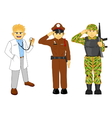 doctor thai police and military career vector image