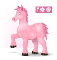 Magic pink horse vector image