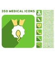 Sperm Winner Icon and Medical Longshadow Icon Set vector image