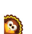 Thanksgiving turkey on white backgroud vector image