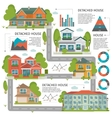 Buildings Flat Infographics vector image
