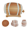 wooden barrel vintage old style oak storage vector image