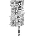 you can improve your relatonships text word cloud vector image