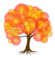 abstract tree covered with autumn foliage in the vector image